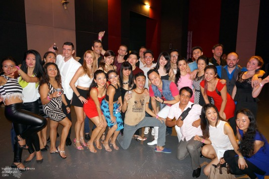 'Survivor shot' (of the last people standing) at the end of the Singapore International Latin Festival earlier this year