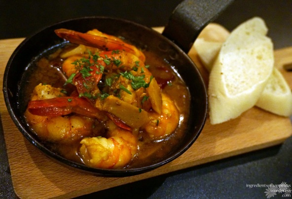 Yummy prawns in a lovely piquant sauce