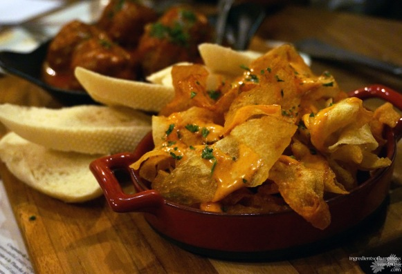 The rather unique potato chips-like Patatas Bravas
