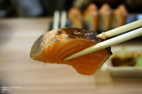 Check out how thick the slices of raw fish were!