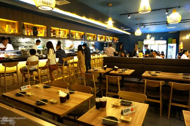 The Sushi Bar at Ngee Ann City is a cosy, warm medium sized restaurant