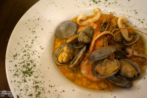 The tom yam seafood risotto at Froth