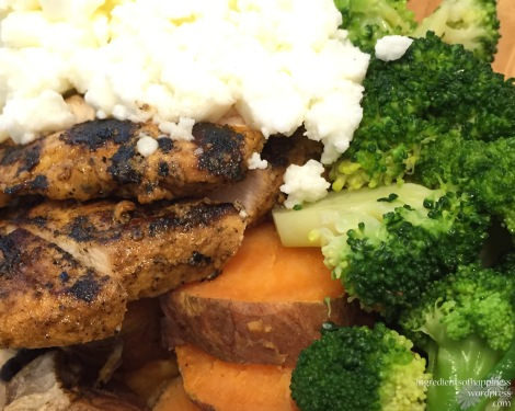 Chicken breast with a sweet potato base!