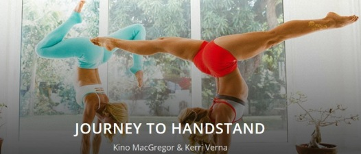 The Journey to Handstand video tutorial on the Cody mobile app